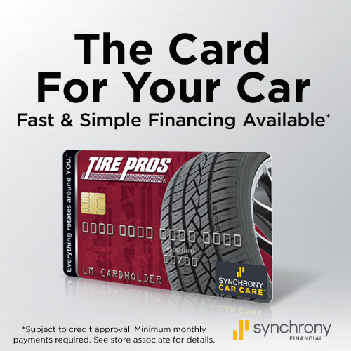 Tire Pros Financing available at Lichtenberg Tire Pros!